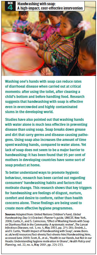 Box 4 - Handwashing with soap: A high-impact, cost-effective intervention